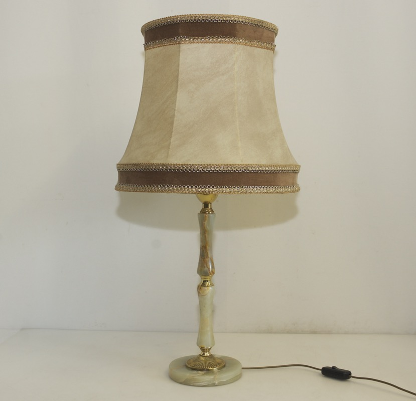 Antique Table Lamp Onyx Brass Lamp Shade Antique High