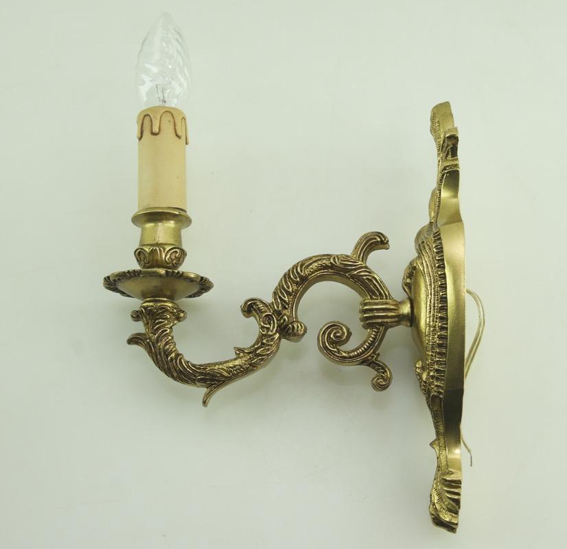 antik wandlampen messing im jugendstil france wandleuchten wall lights brass 1fl ebay. Black Bedroom Furniture Sets. Home Design Ideas