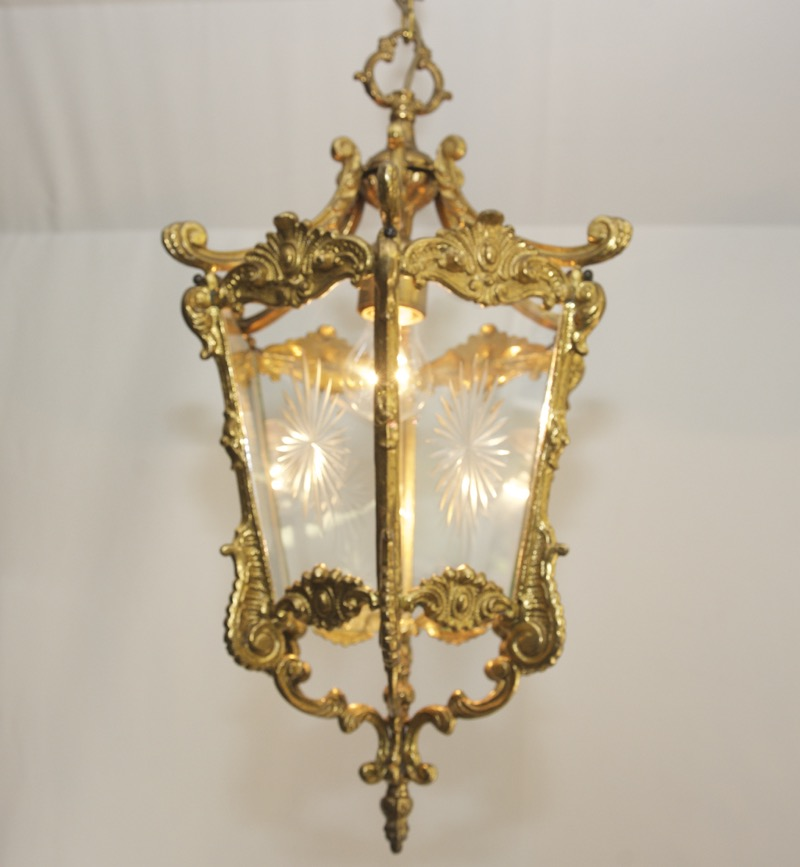 antik deckenlampe messing im jugendstil 7 kg ceiling light art nouveau brass ebay. Black Bedroom Furniture Sets. Home Design Ideas