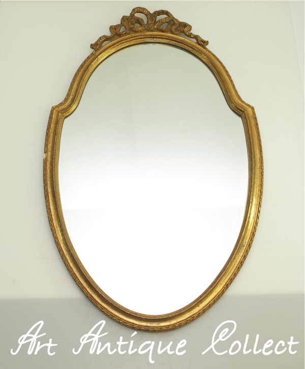 Grand vieux miroir de courtoisie en bois miroir mural cru - Grand miroir mural sur mesure ...
