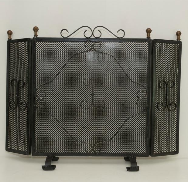 alter kaminschutz funkenschutzgitter funkengitter funkenschutz kamin 3 teilig ebay. Black Bedroom Furniture Sets. Home Design Ideas