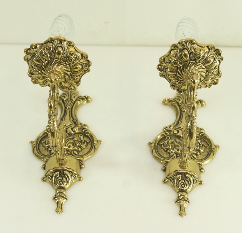 antique wall lamps wall mounted luminaires brass in art nouveau style led light ebay. Black Bedroom Furniture Sets. Home Design Ideas