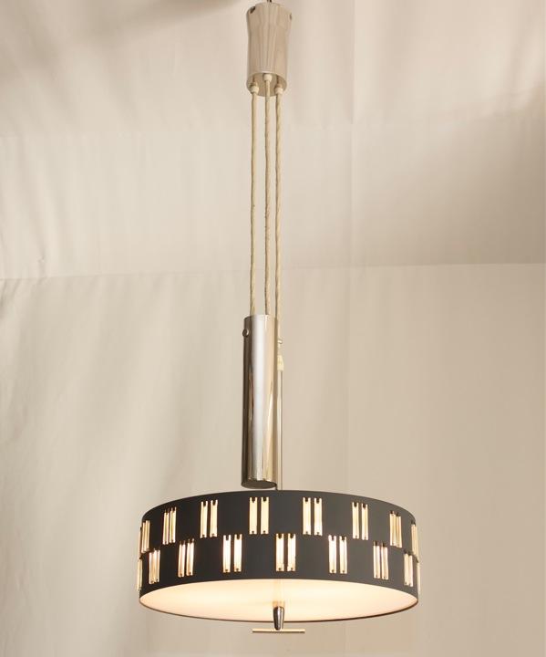 60er deckenlampe vintage h nge zugvorrichtung lampe zug pendelleuchte ebay. Black Bedroom Furniture Sets. Home Design Ideas