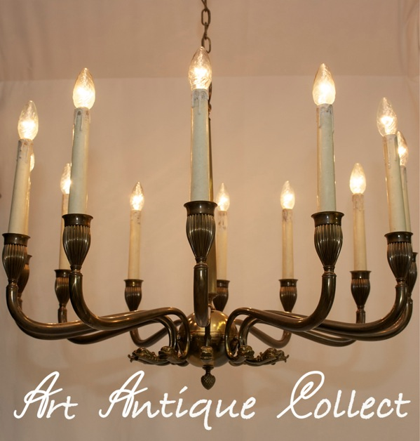 gro er 12 fl kronleuchter empire stil vintage deckenlampe deckenleuchte lampe ebay. Black Bedroom Furniture Sets. Home Design Ideas