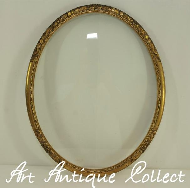 Cornice nouveau arte a 1900 legno specchio ovale for Specchio 1900