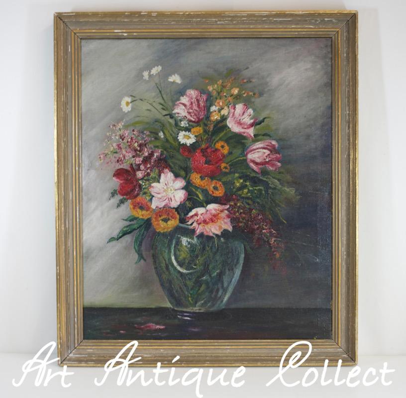 peinture 224 l huile nature morte fleurs tableau toile encadr 233 1930 huile ebay