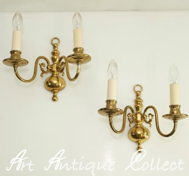1 paar alte wandlampen messing wandlampe lampe antik wandleuchte barock stil ebay. Black Bedroom Furniture Sets. Home Design Ideas