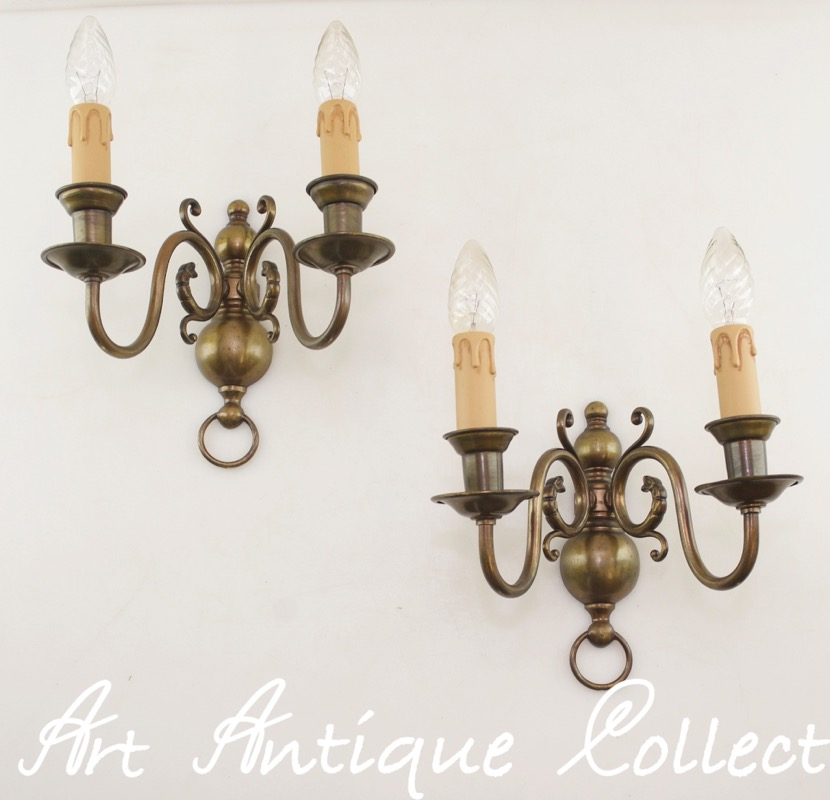 antique wall lamps wall mounted luminaires brass baroque style led light ebay. Black Bedroom Furniture Sets. Home Design Ideas