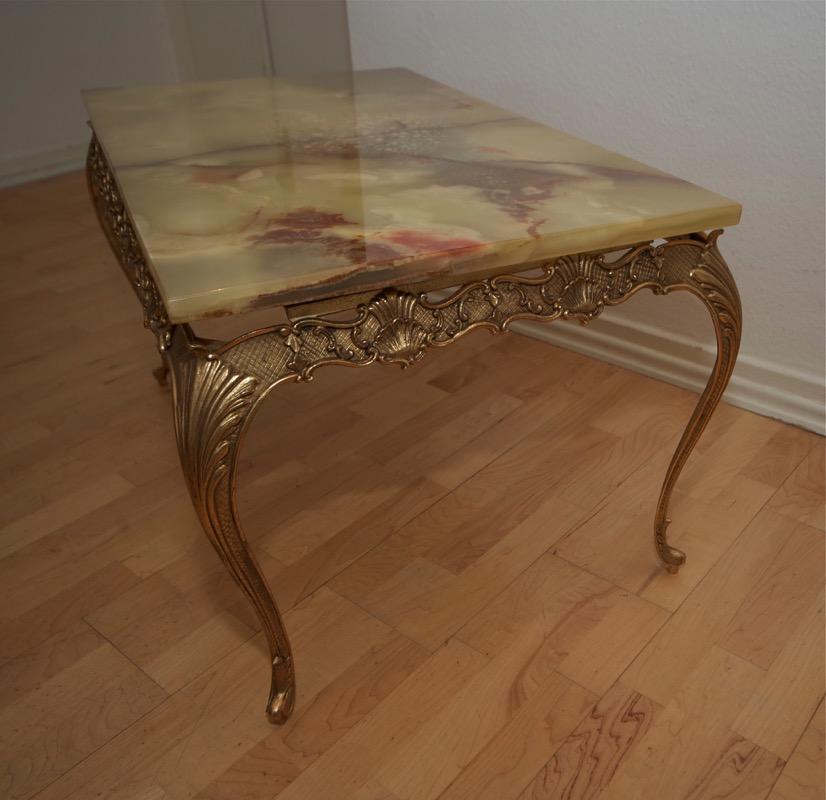 antik stil tisch couchtisch beistelltisch messing marmor. Black Bedroom Furniture Sets. Home Design Ideas