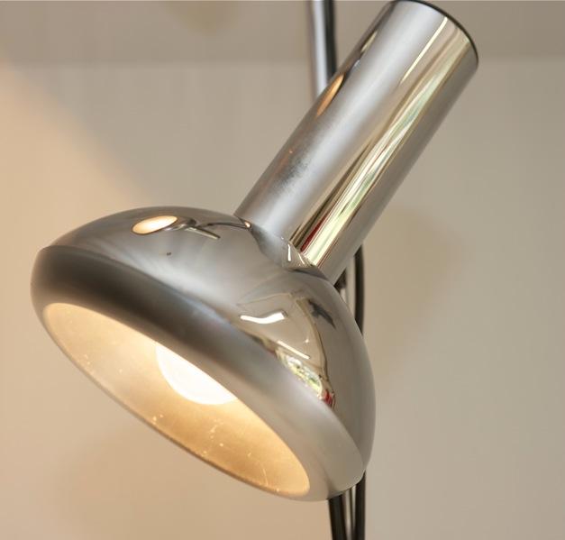 Stehlampe Design Lampe Strahler 70er Jahre Chrom