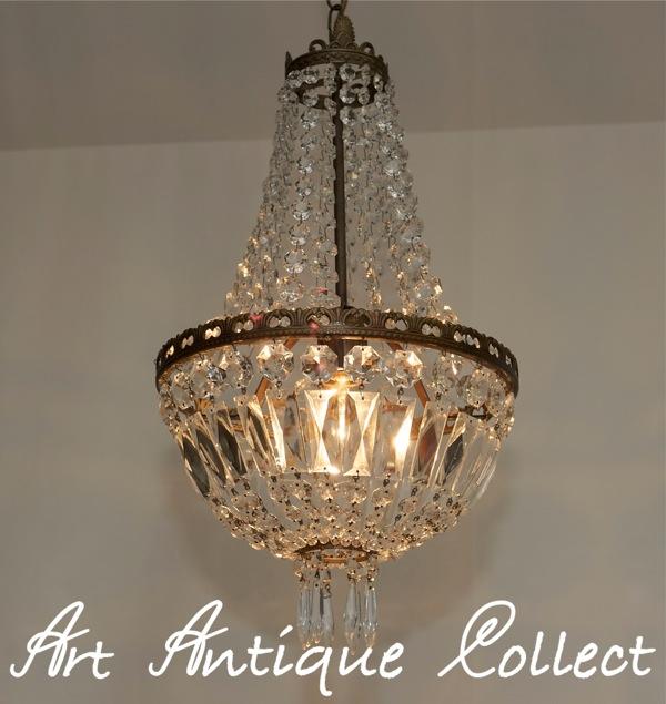 vintage lustre lampe plafonnier lustre korbl ster laiton cristal ebay. Black Bedroom Furniture Sets. Home Design Ideas
