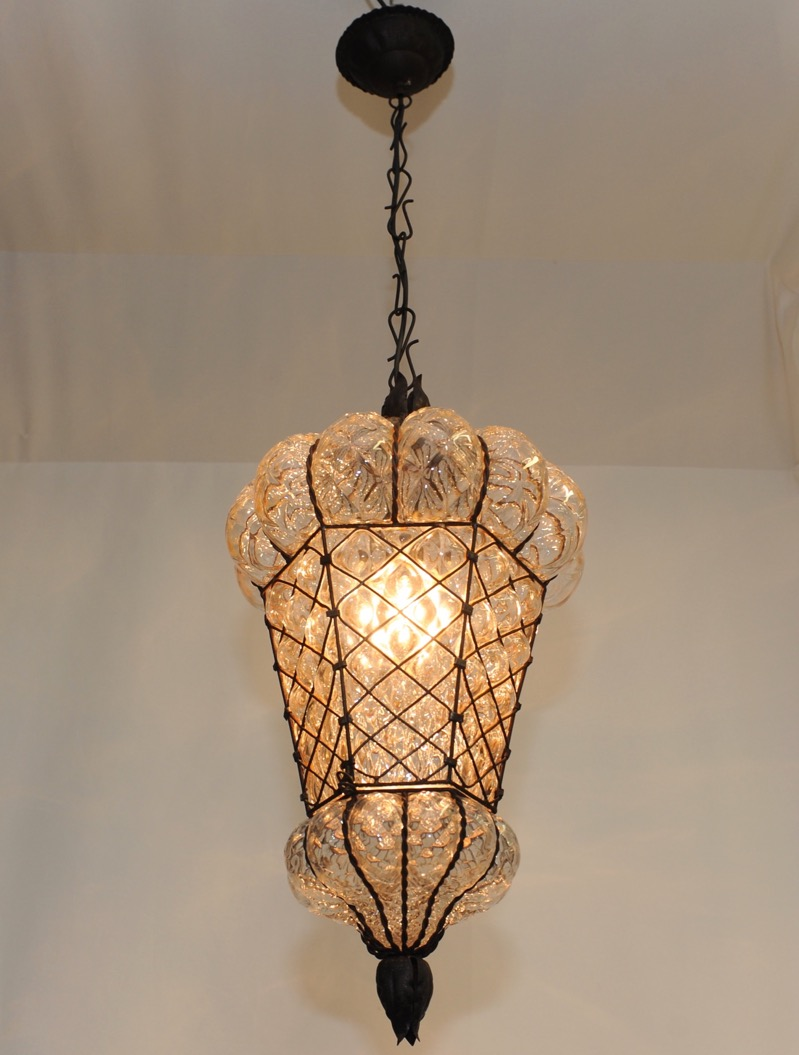 vintage mundgeblasene murano decken lampe barovier seguso. Black Bedroom Furniture Sets. Home Design Ideas