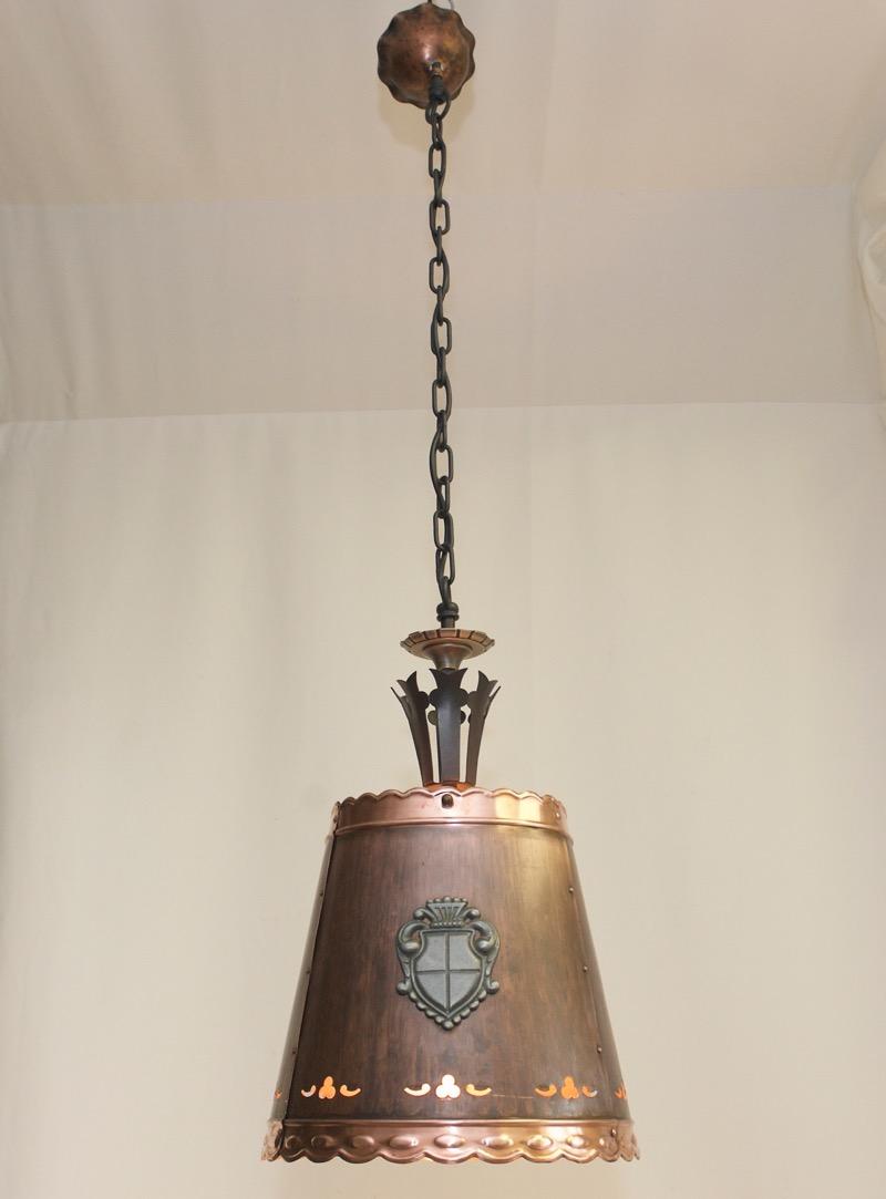 KAISER Decken Lampe Kupfer 9er Kaiser Leuchten Rustikal ...