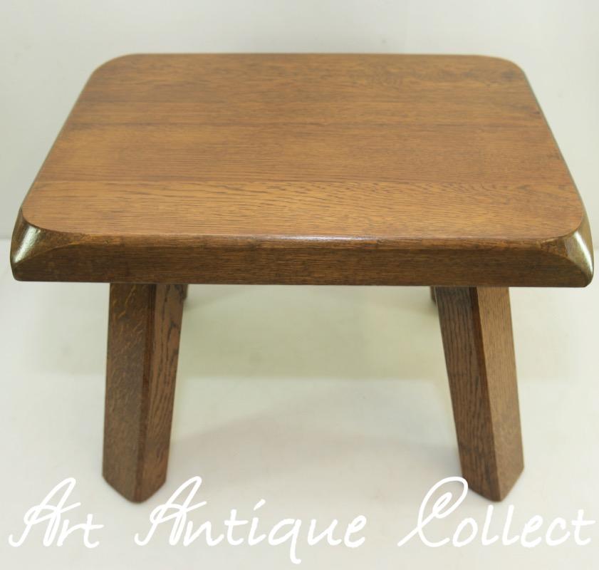 pflanzen tisch eiche holz beistelltisch oak plant stand blumen hocker vintage ebay. Black Bedroom Furniture Sets. Home Design Ideas