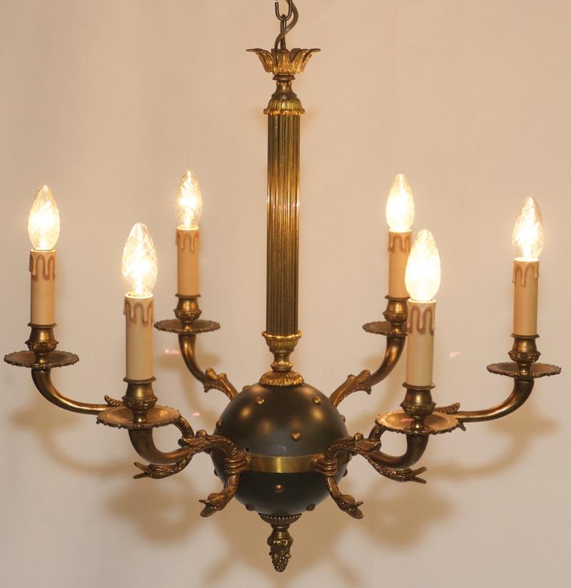 alte kronleuchter messing empire style chandelier teal swan ceiling light design ebay. Black Bedroom Furniture Sets. Home Design Ideas