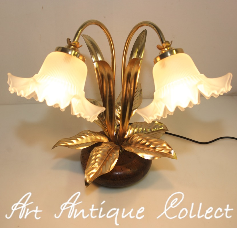 florentine table lamp florentine toleware hollywood regency gold gilt leaf vtg ebay. Black Bedroom Furniture Sets. Home Design Ideas