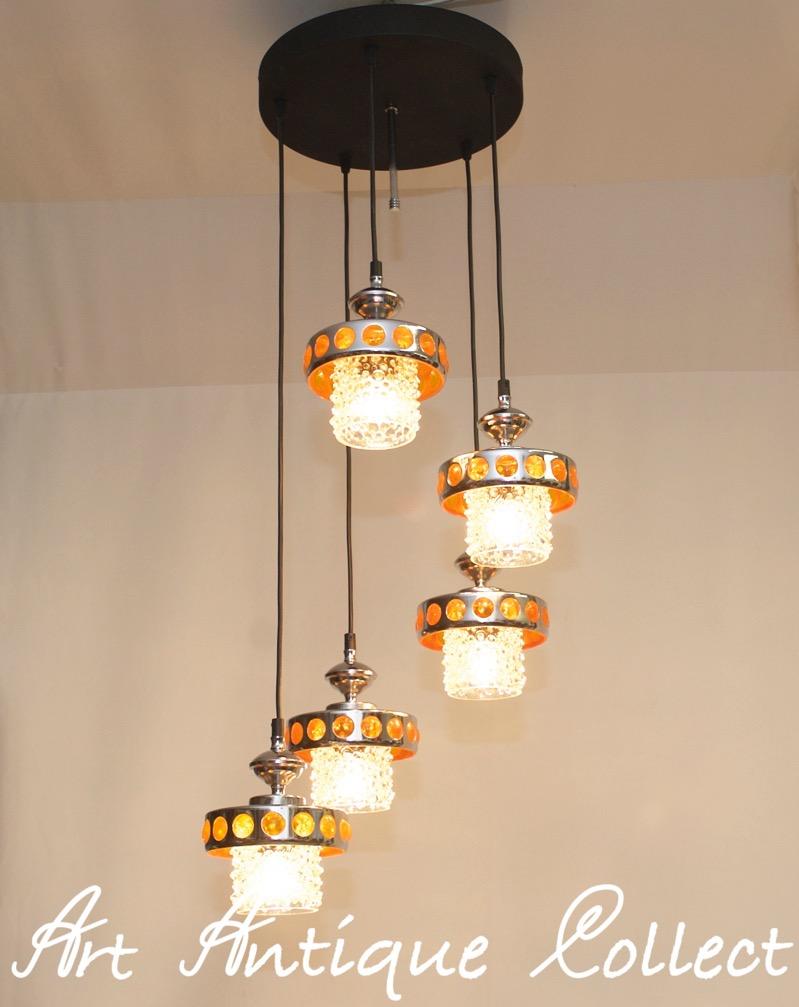 Kaskadenlampe Kaskaden Leuchte Deckenlampe 70er Design Vintage Space ...