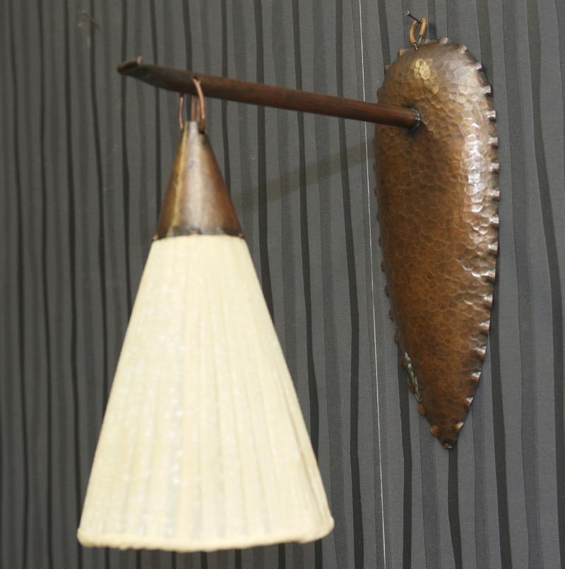 antique applique murale cuivre ann es 50 fifties led lampe mur luminaires ebay. Black Bedroom Furniture Sets. Home Design Ideas